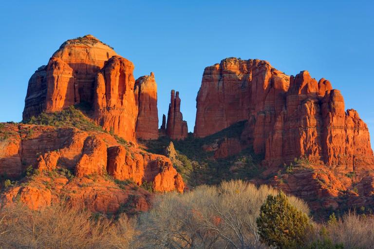 Cathedral Rocak At Red Rock Crossing,Sedona,Arizona,USA,North America