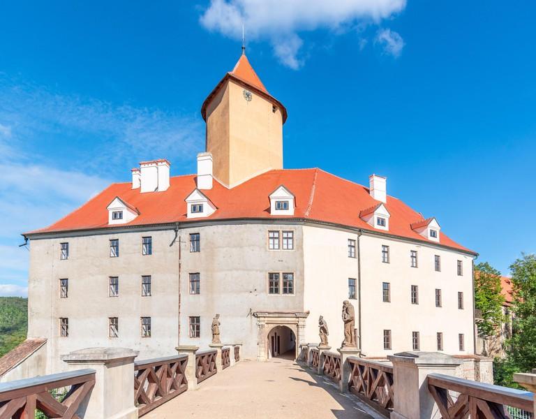 Veveri medieval castle near Brno, South Moravia, Czech Republic.