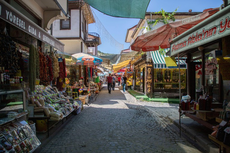 Beypazari, Ankara / Turkey - July 24 2020: Beypazari district center and traditional houses