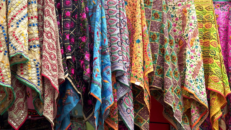 pashmina scarves on display at a store amritsar