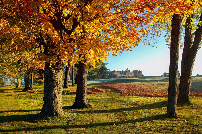 USA, New England, Massachusetts, Lee, Golf Course at Cranwell Resort & Spa,