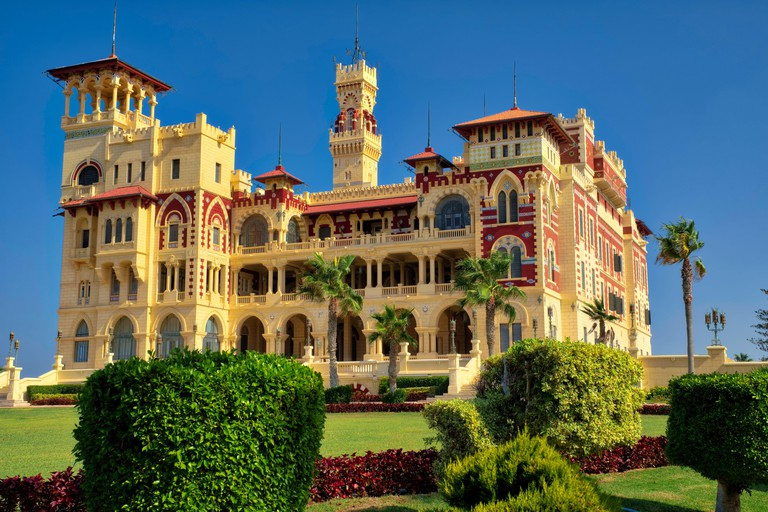 A grand 1930s royal palace in Turkish & Florentine styles, with large gardens, now a public parkTaken @Alexandria, Egypt