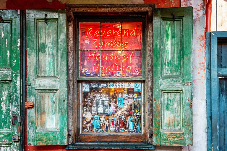 New Orleans voodoo shop, Reverend Zombies House of Voodoo in the French Quarter.