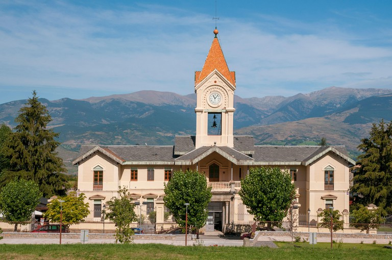 Townhall in the small town of Das, Cerdanya valley, Catalonia, Spain