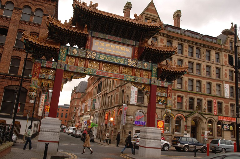 Copyright Photograph by Howard Barlow Manchester s CHINATOWN