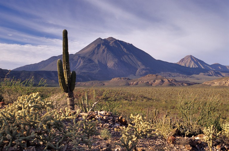 Tres Virgenes volcano near Santa Rosalia in Central Desert, Baja California, Mexico. Image shot 2007. Exact date unknown.
