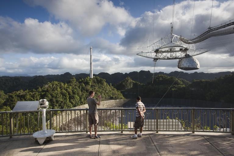 Puerto Rico, North Coast, Arecibo, Arecibo Observatory, world's largest radio telescope, visitors, NR