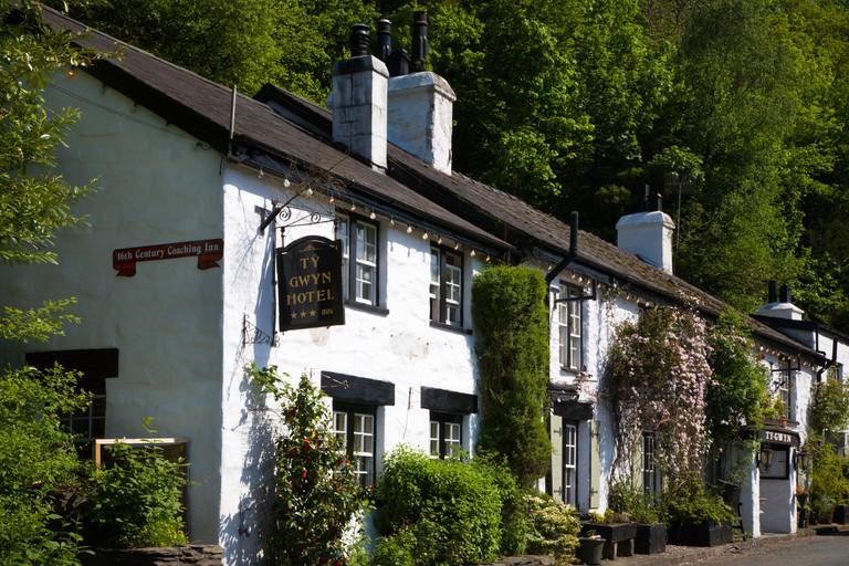 Old Coaching Inn near Betws y Coed Conwy Wales.