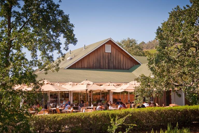 champagne tasting patio at Mumm Napa Valley Napa Valley California United States of America