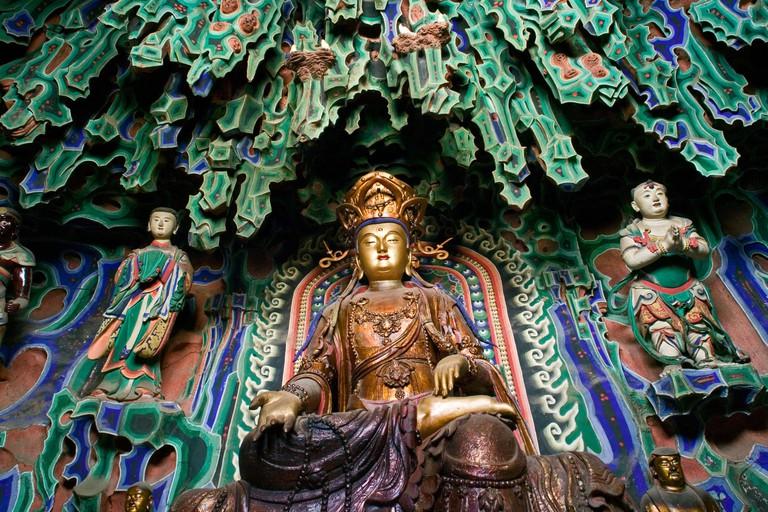 Grand Hall, Manjushri Temple with Buddha statue