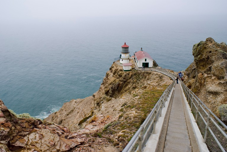 The lighthouse at Point Reyes National Seashore in California.