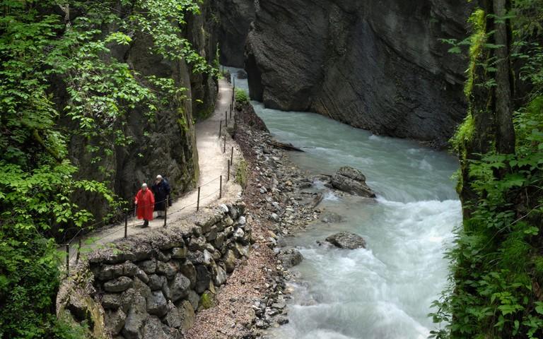 Partnachklamm, Partnach Gorge, near Garmisch-Partenkirchen, Bavaria, Germany, Europe