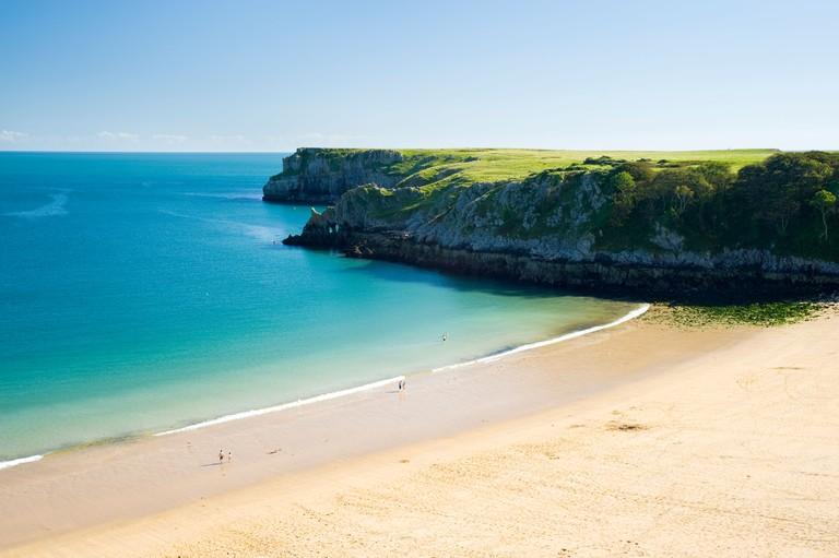 Barafundle Bay, Pembrokeshire Coast National Park, South Wales.