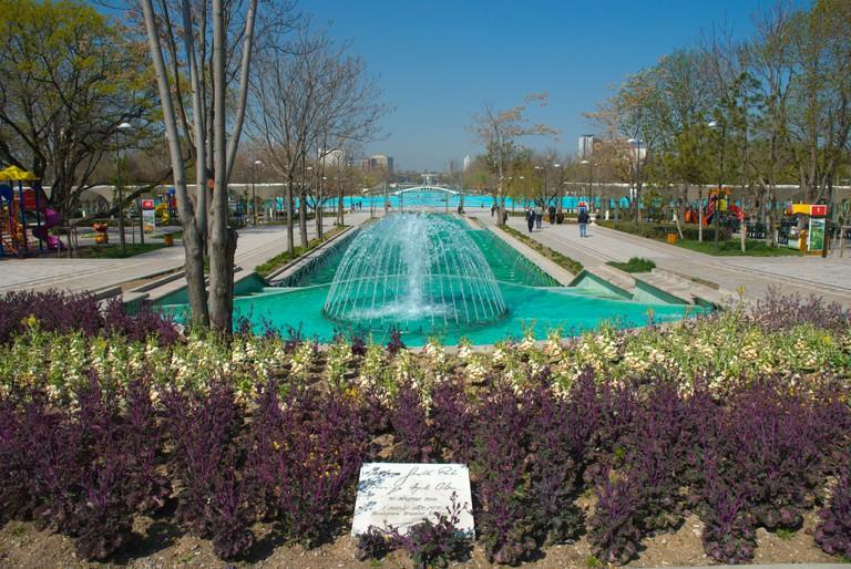 Genclik parki waterpark Ulus district Ankara central Anatolia Turkey Asia