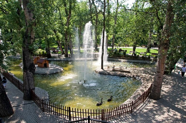Kugulu swan park Kavaklidere shopping fashionable district Ankara Turkey