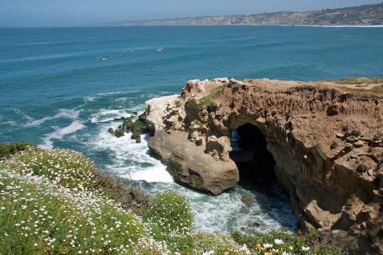 View of la Jolla caves, California