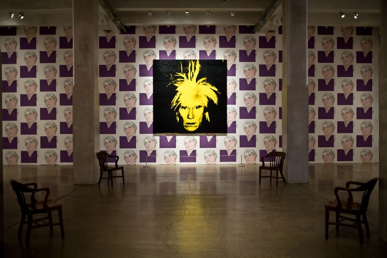 Andy Warhol self-portrait at Warhol Museum, Pittsburgh, Pennsylvania