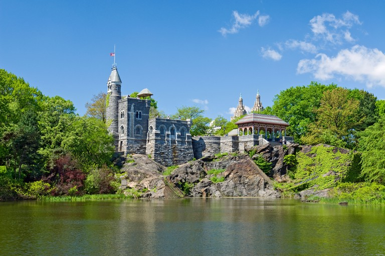 Belvedere Castle and Turtle Pond, Central Park, New York City.. Image shot 2009. Exact date unknown.