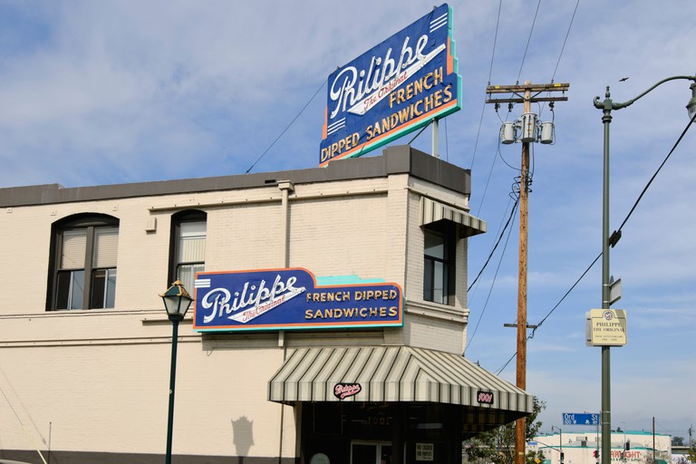 Philippe the Original French Dipped Sandwich Restaurant.