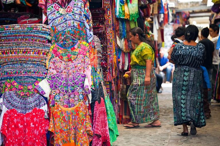 Mercado de Artesanias, Artisans Market, Antigua, Guatemala