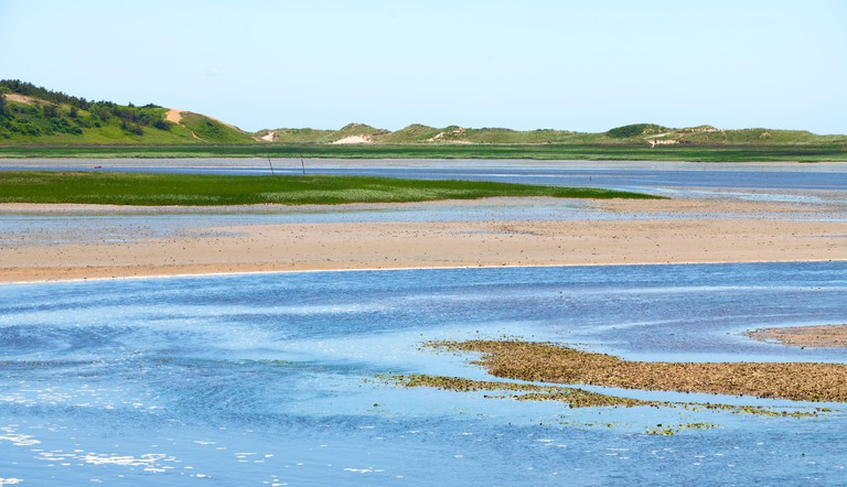 A land/seascape on Cape Cod in the Town of Wellfleet, Massachusetts, USA. Cape Cod National Seashore, Griffin Island.