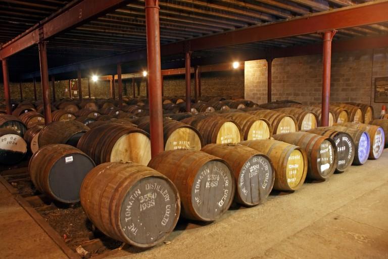 United Kingdom, Scotland, Highlands, Tomatin 's distillery, cellar
