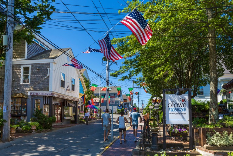Commercial Street (the Main Street), Provincetown, Cape Cod, Massachusetts, USA