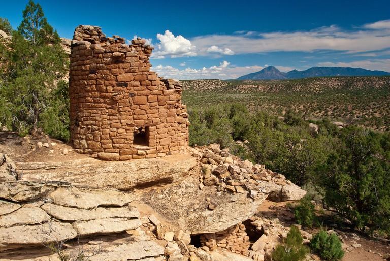 Painted Hand Pueblo, Anasazi ruins at Canyons of the Ancients National Monument, Colorado, USA
