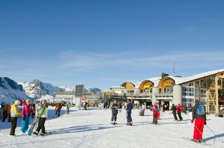 Argentiere and Grand Montet ski area, Chamonix Valley, Haute-Savoie, French Alps, France