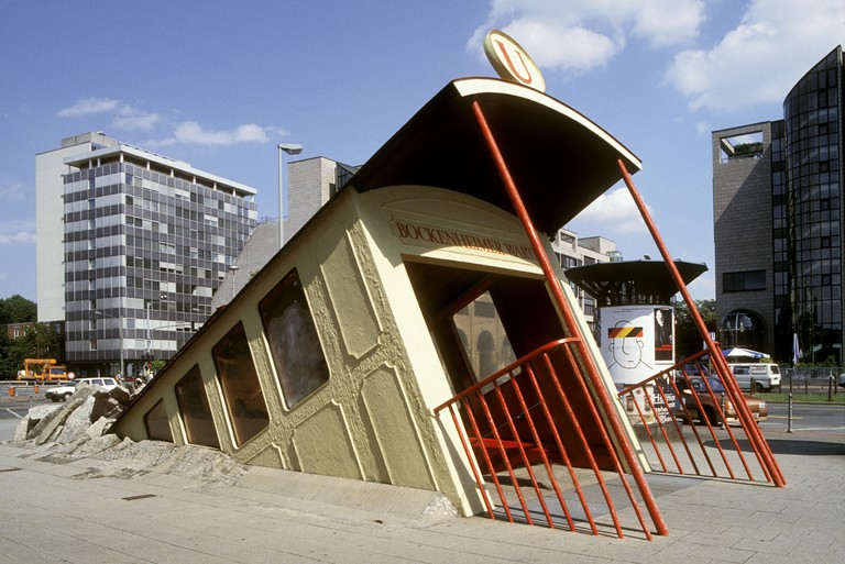 Bockenheimer Warte subway entrance. Frankfurt am Main. Germany