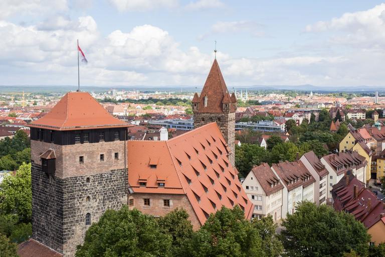 Towers of Kaiserburg or Imperial Castle of Nuremberg, Germany.