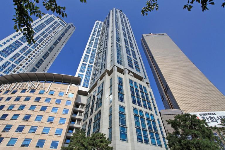 South Korea, Seoul, Yeouido, Richensia building, 63 City,