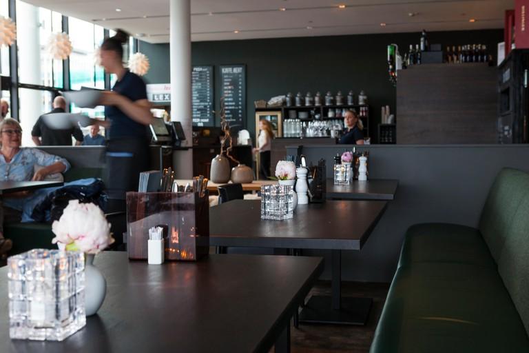 Du Verden restaurant, Svolvaer. Lofoten Islands. Norway food and drink.