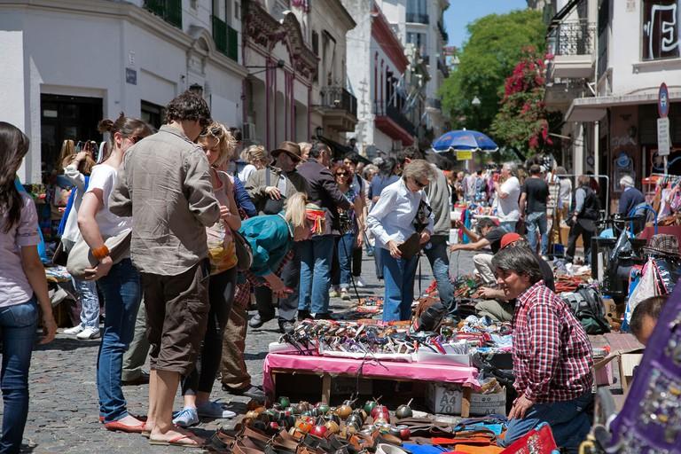 Sunday flea market.San Telmo.Buenos Aires.Argentina