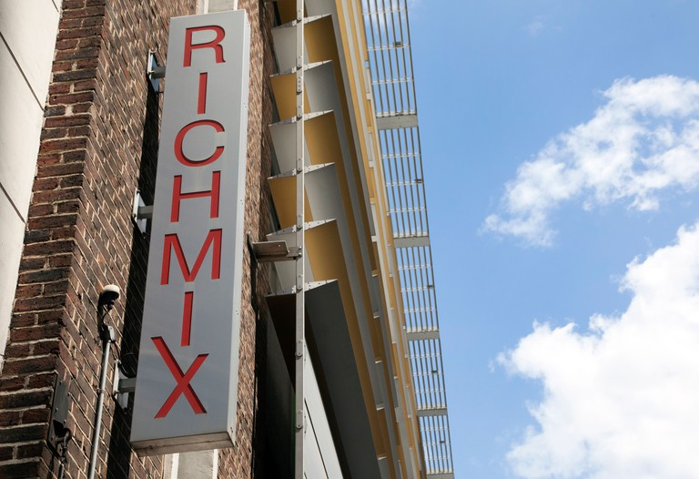 Rich Mix cinema, music and exhibitions centre in Shoreditch, East London. Image shot 2014. Exact date unknown.