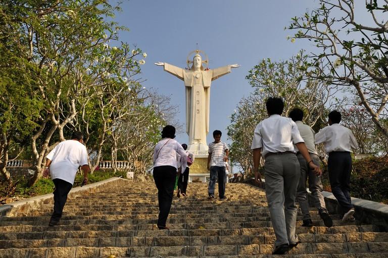Vietnam, Ba Ria Vung Tau Province, Vung Tau, the highest statue of Christ in the world on Nui Nho mountain