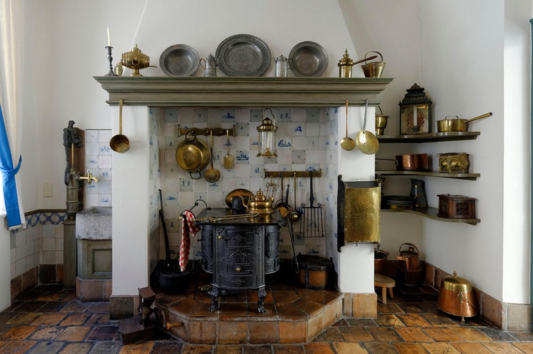Germany, North Rhine Westphalia, Aachen, the Couven museum, Route Charlemagne station, the kitchen