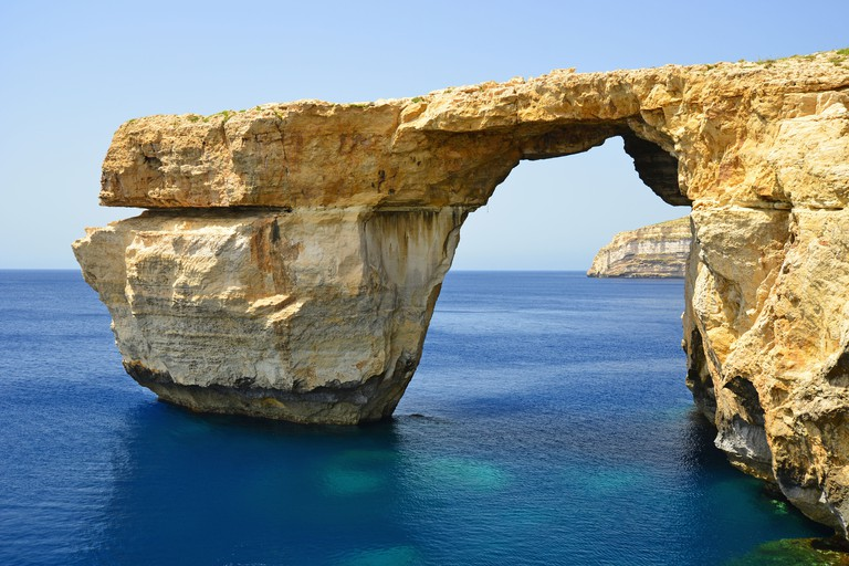 Azure Window, Dwejra, Gozo (Ghawdex), Gozo and Comino District, Gozo Region, Republic of Malta. Image shot 2014. Exact date unknown.