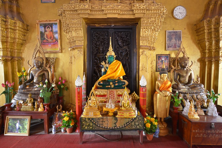 E77EDK Wat Si Muang, Vientiane, Laos