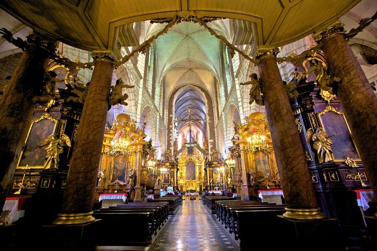 Interior of Corpus Christi Basilica, Kazimierz, Krakow, Poland, Europe