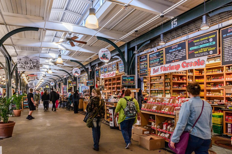 French market is popular among locals and tourists looking for New Orleans souvenirs