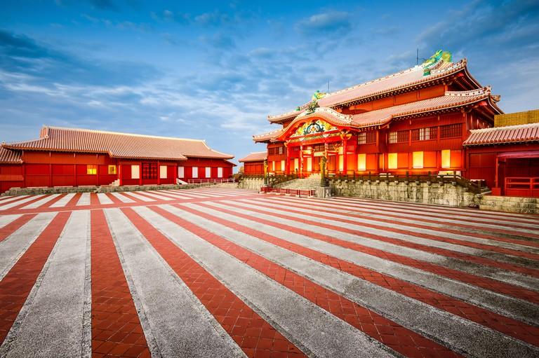 Okinawa, Japan at  historic Shuri Castle.