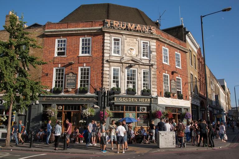 Golden Heart Pub, Commercial Street, Spitalfields, London
