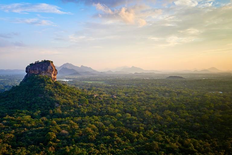Sri Lanka, Ceylon, North Central Province, Sigiriya Lion Rock fortress, UNESCO world heritage site