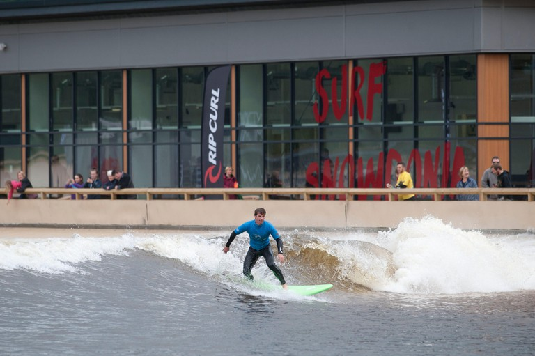 Surf Snowdonia man made wave development in North Wales, UK.. Image shot 08/2015. Exact date unknown.