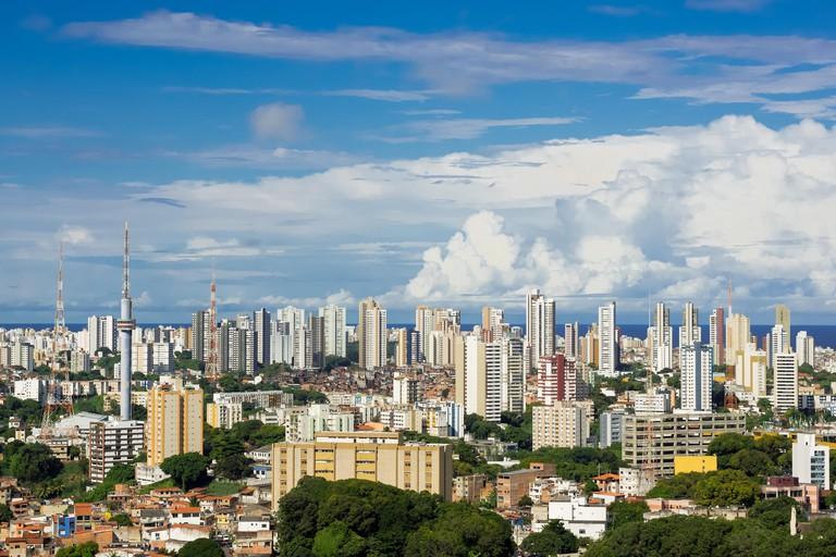 Salvador cityscape, Bahia, Brazil.
