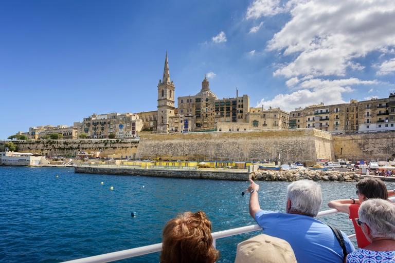Approaching Valletta on the Sliema Ferry