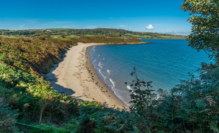 Beach between Lligwy and Dulas (Traeth Yr Ora) , Isle of Anglesey, North Wales, UK. Taken on 14th October 2015.