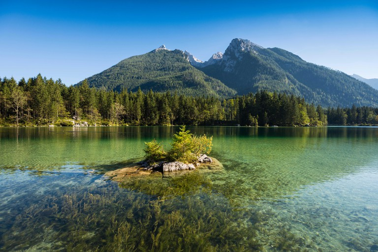 Hintersee, Ramsau, Berchtesgaden National Park, Berchtesgadener Land district, Upper Bavaria, Bavaria, Germany