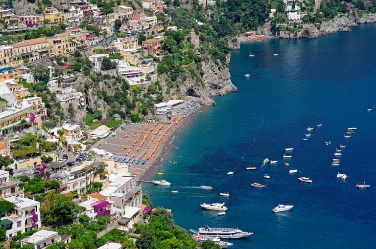 Spiaggia del Fornillo, beach, coast of Amalfi, Naples, Campania, Italy